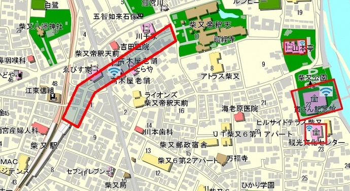 Shibamata area